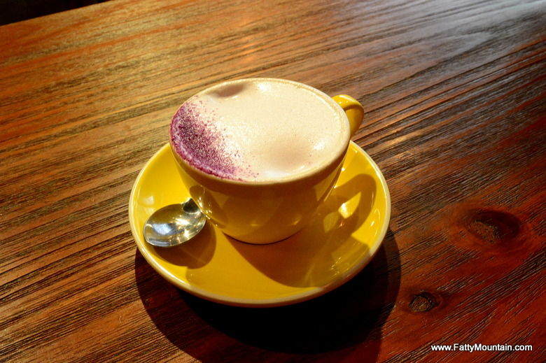Purple latte