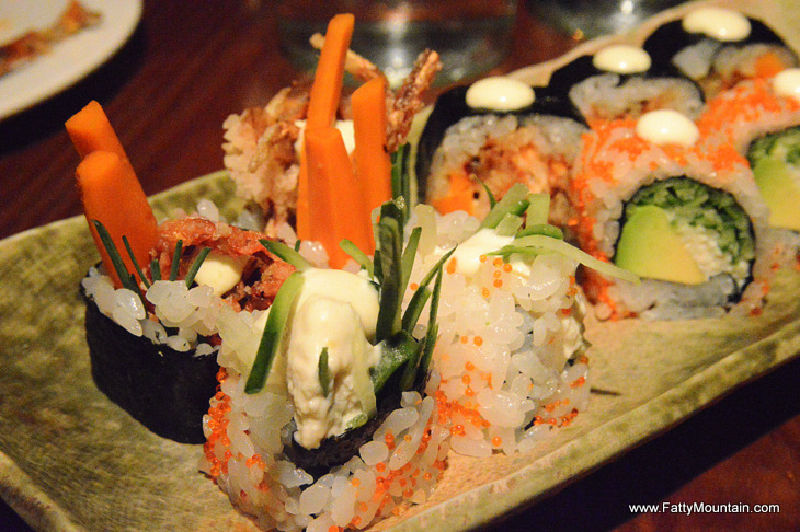 CALIFORNIA ROLL and SOFTSHELL CRAB ROLL