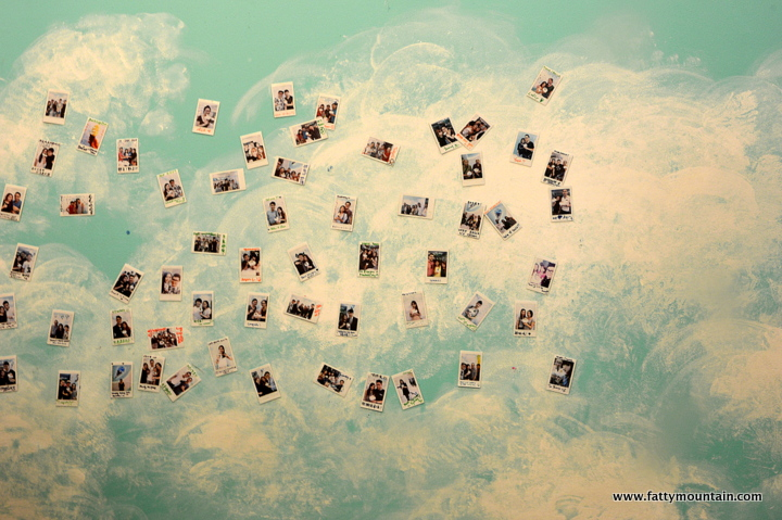 The wall of photos