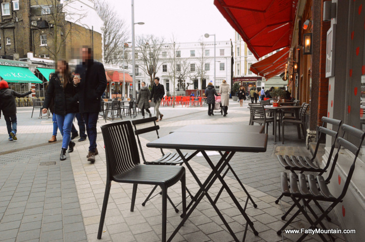 Tables outside