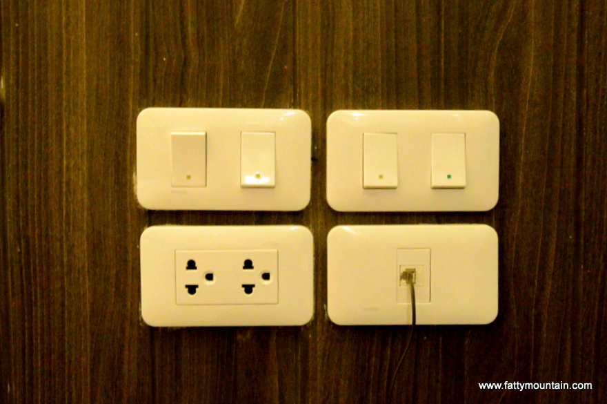 Light switches by the bed