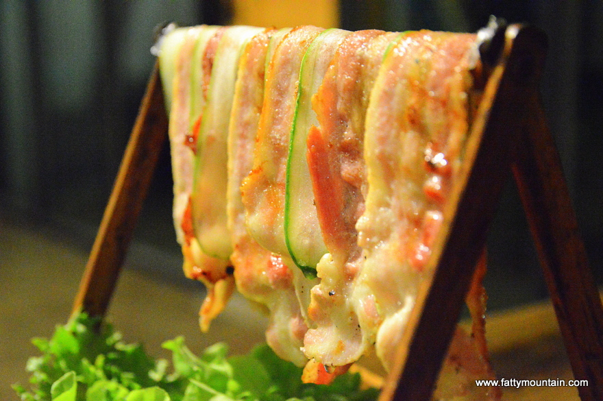 Grilled Streaky Pork with Spicy Sauce