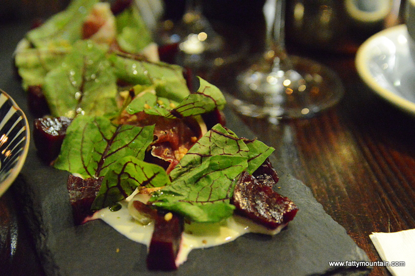 Goat Cheese Salad, Roasted Beetroots, Parma Ham & Puffed Quinoa