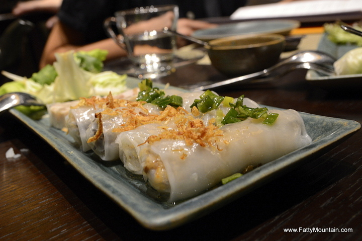 Steamed Rice Paper Rolls