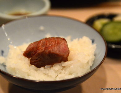 Kobe beef with rice