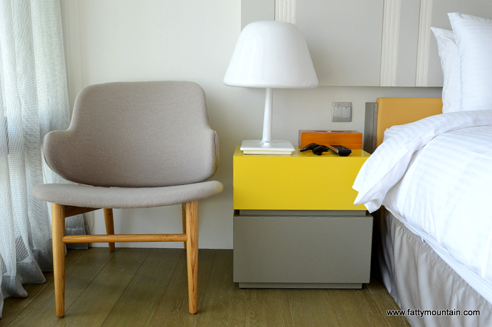 Bedside table and chair