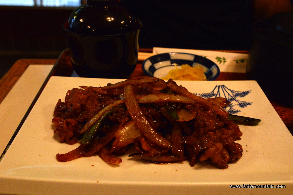 Stirred fried beef