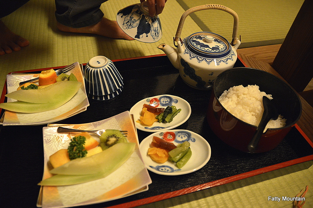 Fruits and rice
