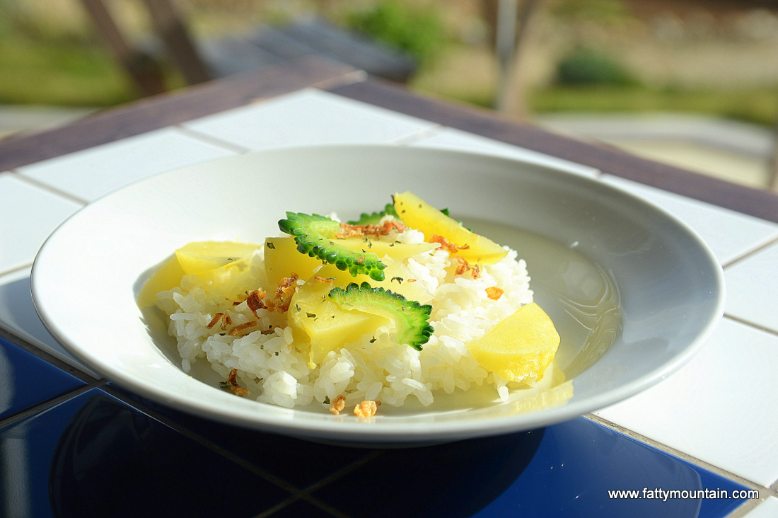 Curry vegetable rice without curry
